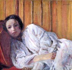 Pierre Bonnard  - Jeune fille étendue