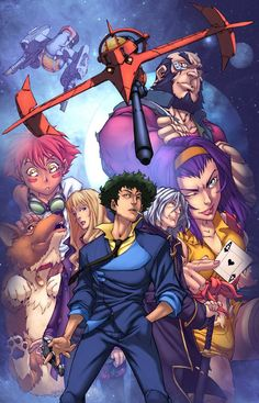 Cowboy Bebop by Mark Brooks, and colours by Logicfun *