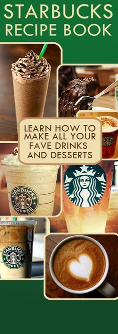 Starbucks DIY, Starbucks Recipe eBook, DIY Starbucks Coffee, Drinks, Fraps, Save Money on Starbucks, Each drink is a few Pennies