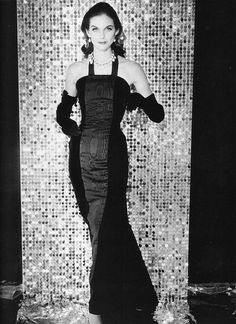 Anne St. Marie wearing gown by Givenchy, Fall 1956    Photo by Henry Clarke