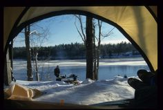 Winter camping, Frontenac Provincial Park (photo credit: Simon Smith) Camping Activities, Winter Activities, Ontario Parks, Park Photos, Winter Camping, The Great Outdoors, Photo Credit, Tent, Road Trip