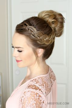 The weather is heating up and I've found myself wearing a messy bun far too often! For today's tutorial I wanted to share a fun way to dress up your favorite high bun. I am obsessed with this look and know it's going to be…