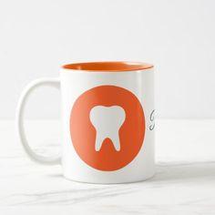 Dentist Logo Icon Two-Tone Coffee Mug - decor gifts diy home & living cyo giftidea