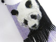 Beaded Panda Amulet Necklace