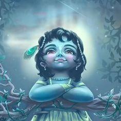 Krishna is looking at you by kliana_art Krishna Flute, Krishna Statue, Krishna Hindu, Cute Krishna, Radha Krishna Photo, Shree Ganesh, Jai Shree Krishna, Shiva Shakti, Radhe Krishna