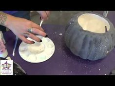 ▶ Starry Night Pumpkin | As You Wish Pottery Painting Place - YouTube
