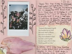 Words and images in a journal Kunstjournal Inspiration, Art Journal Inspiration, Journal Ideas, Journal Entries, Journal Pages, Photo Journal, Smash Book, Journal Diary, Bullet Journal