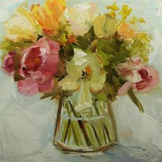 """Daily Paintworks - """"May Day Bouquet 1"""" - Original Fine Art for Sale - © Tess Lehman"""