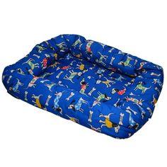 Cama de Cachorros Americana Azul Estampa Cachorrinho São Pet - MeuAmigoPet.com.br #petshop #cachorro #cão #meuamigopet