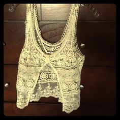 Urban outfitters lace cropped vest. Super cute lace cropped layering piece from Urban Outfitters. Kimchi Blue Other