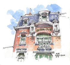 Carnet de Liège, 1 | Rue Saint-Eloi 4 | Luis Ruiz Padrón | Flickr