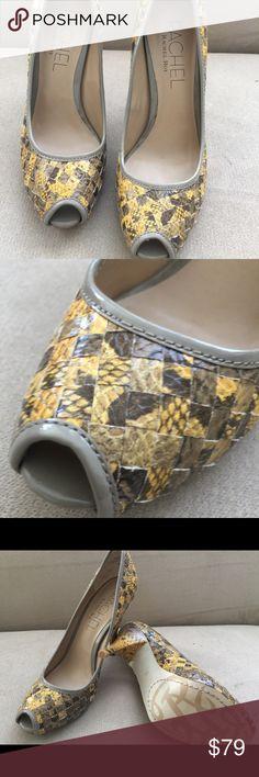 "Rachel Rachel Roy 5"" heels size 8.5 Brand you  no box 👠👠👠gorgeous open toe. Rachel Roy style Reevonne Made of quality man made material. Side 8.5 m. Rachel Roy Shoes Heels"
