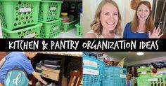 KITCHEN ORGANIZATION IDEAS! | Pantry, Command Center & Drop Zone