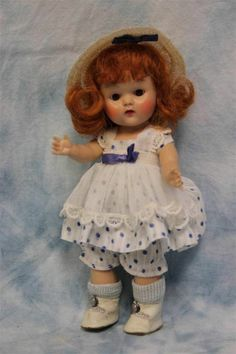 """8"""" Vogue STRUNG GINNY Doll 1952 in LUCY #39 TINY MISS SERIES Original & Complete"""