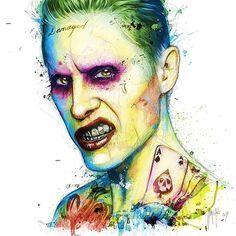 "1,095 Likes, 9 Comments - Patrice Murciano (@patrice_murciano) on Instagram: ""Joker 120x120 cm #joker #suicidesquad #comics #batman #superhero #harleyquinn"""