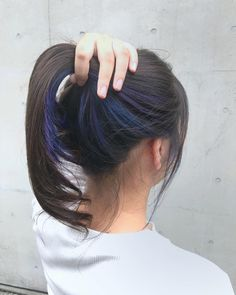 All Details You Need to Know About Home Decoration - Modern Two Color Hair, Hidden Hair Color, Hair Color Streaks, Hair Color For Black Hair, Cool Hair Color, Hair Highlights, Purple Hair, Ombre Hair, Underdye Hair