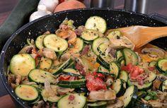 Zucchini Mushroom Saute Recipe via @SparkPeople