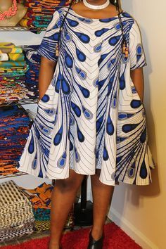 African print dress/African dress/Ankara dress/African clothing for women/African clothing/African loose dress/Plus size dress/loose dress African print dress/African dress/Ankara dress/African Print circle dress by KathyElegantFashion Latest African Fashion Dresses, African Dresses For Women, African Print Dresses, African Print Fashion, Africa Fashion, African Attire, African Wear, African Women, Ankara Fashion