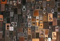 Wall of Sound Deco Studio, Home Theater Installation, Art Installation, Home Studio Music, Speaker Design, Electronic Music, Texture, Home Theater Seating, Decoration