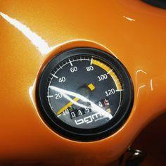 Vespa orange black 77 speedo speedometer tacho bar sf smallframe et3 primavera Vespa Scooters, Bar, Orange, Princess