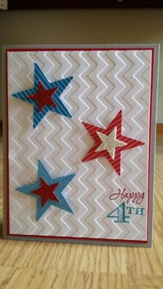 Happy 4th of July! Stampin' Up! Www.midmostamping.com Would also make a great birthday card.