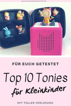 Du suchst Weihnachtsgeschenke für Kleinkinder? Auf meinem Blog stelle ich unsere Top 10 Tonies für Kleinkinder vor. Ob zum tanzen, zuhören oder als Einschlafbegleitung - für jedes Kind hat diese Musikbox das passende Hörspiel! Zudem darf ich gleich an 3 Leser einen Tonie-Transporter und 3 Tonies Hörfiguren verlosen. Viel Glück!