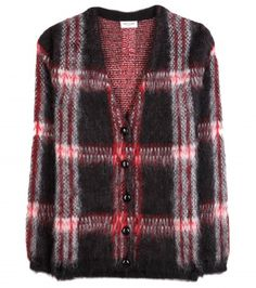 Saint Laurent - Mohair-blend plaid cardigan  - mytheresa.com GmbH