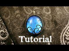 Azure Fantasy/Gothic Polymer Clay Pendant / Velvetorium - YouTube