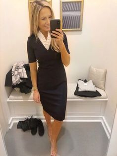 Shop Your Screenshots™ with LIKEtoKNOW.it, a shopping discovery app that allows you to instantly shop your favorite influencer pics across social media and the mobile web. Pencil Skirt Black, Pencil Skirts, Sheath Dress, Bodycon Dress, Spring Outfits, Work Outfits, Professional Dresses, Work Looks, Gorgeous Women