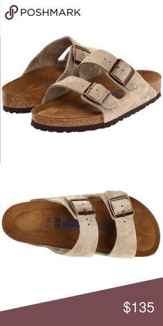 NIB Birkenstock Arizona soft footbed sandals Taupe suede, soft footbed! 🚛🏗NEW LISTING, UNDER CONSTRUCTION!🏗🚛  ⏳PICS COMING SOON! ⏳   ⬇️I will price drop when this item has been updated with my own pictures and pricing!⬇️  ❤️Like this listing to be notified when this item become available 📳  💬Comment below ⤵️ to reserve this item! Go ahead and make me an offer!🎉 Birkenstock Shoes Sandals