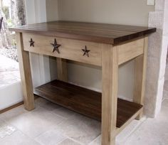 Primitive DIY little table/ stand....want for kitchen island!