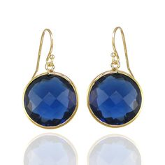 Kyanite Quartz gold plated earring
