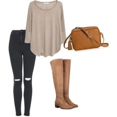 A fashion look from February 2015 featuring MANGO tops, Topshop jeans and GiGi New York shoulder bags. Browse and shop related looks.