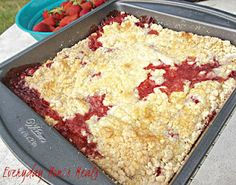 ~Strawberry Cobbler~ Super simple and bursting with berry flavor, this is perfect for any summer meal!