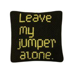 MOTH DISUADER Lavender Bag Cross Stitch Kit - 'Leave my jumper alone' by Maxemilia via Folksy, £20.00