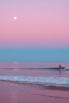 beautiful #pink #blue #colour #sunset