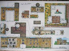 lote completo 8 recortables castillos. serie me - Comprar Construcciones en todocoleccion - 26942098
