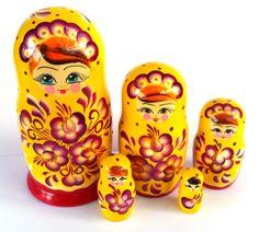 """Kierra"" 5 piece Russian Nesting Dolls"
