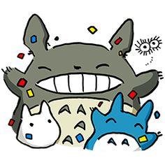 あの「となりのトトロ」が遂にLINEスタンプに登場! スタジオジブリの鈴木敏夫プロデューサー描き下ろし! トトロたちの表情豊かなスタンプでトークを盛り上げよう♪