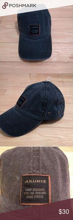 NWT A Kurtz Baseball Hat Camp Aflex Black AK545 Brand new with tags! A Kurtz baseball cap. A Kurtz Accessories Hats