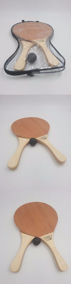 Other Tennis and Racquet Sports 159135: Beach Racquet Matkot Professional Hollow Racket Wood Paddles Original + 1 Ball -> BUY IT NOW ONLY: $45 on eBay!