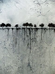 Abstract Painting of Trees on the Horizon Heavily от BrittsFineArt