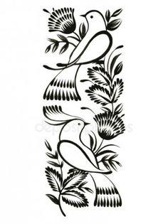 Folk Embroidery Ideas decorative ornament, hand drawn, vector, black illustration in Ukrainian folk style - stock vector - Russian Folk Art, Ukrainian Art, Folk Embroidery, Hand Embroidery Designs, Embroidery Patterns, Bordado Popular, Bird Stencil, Hand Sketch, Folk Fashion