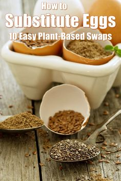 How to Substitute Eggs - 10 Easy Swaps for ANY Recipe (muffins, cakes, cookies, quiche, and so much more)   #plantbased #vegan #eggreplacer