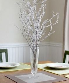 Twig Crafts Projects  Learn how to make the crystal covered twigs.