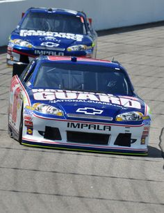Richmond Raceway #5 Farmers Insurance Kasey Kahne , and Team mate National Guard #88 Dale Earnhardt Jr.