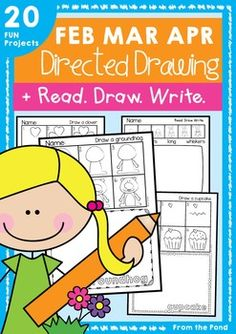 Directed Drawing and Writing Packet - February, March and AprilThis packet of 20 worksheets will help you integrate 'February, March and April'  themed learning with writing and art.Directed drawing allows young students to feel successful on their journey learning to draw and helps to motivate their writing.This packet includes 2 styles of each of the 10 projects.