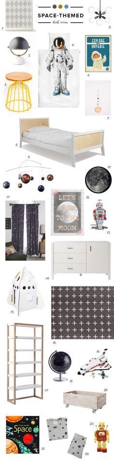 Space-themed kids room ideas | 100 Layer Cakelet #bedroomideas #space #kids