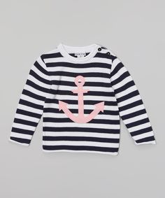 Look at this Sophie & Sam Navy & White Anchor Sweater - Toddler & Girls by Sophie & Sam