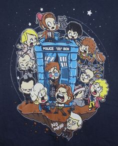 Tee Fury Doctor Who LETS PLAY DOCTOR Baby Drs w/Tardis T-Shirt  Womens Size M